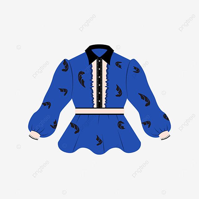 blue black female shirt clipart