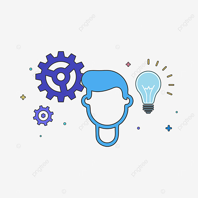 blue character innovation clipart