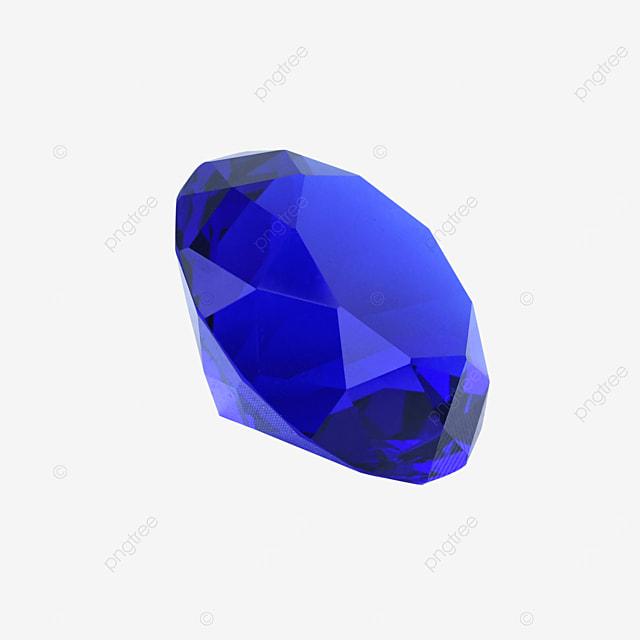 blue crystal gem diamond decoration
