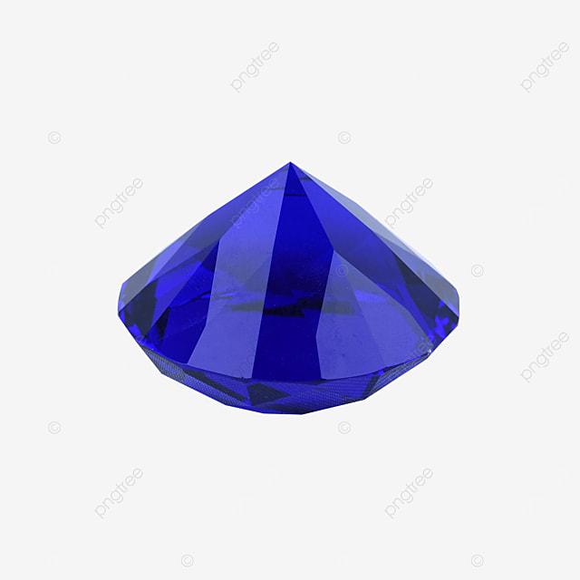 blue crystal gem diamond ornament