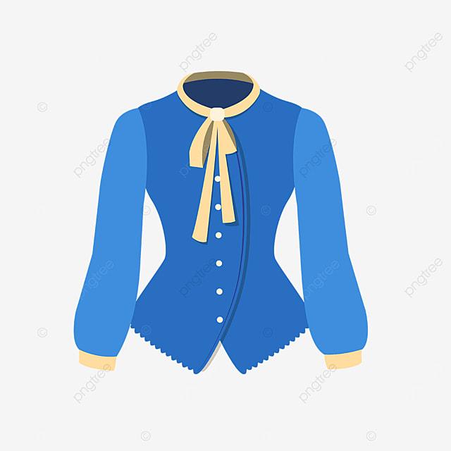 blue female shirt clipart