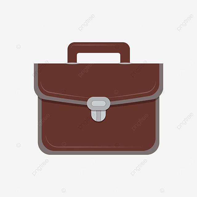 brown briefcase clipart