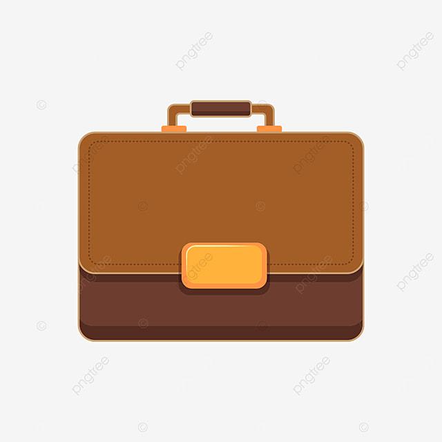 brown golden briefcase clipart