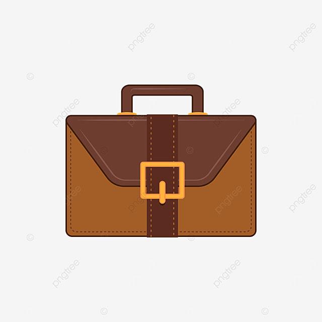 brown mens briefcase clip art