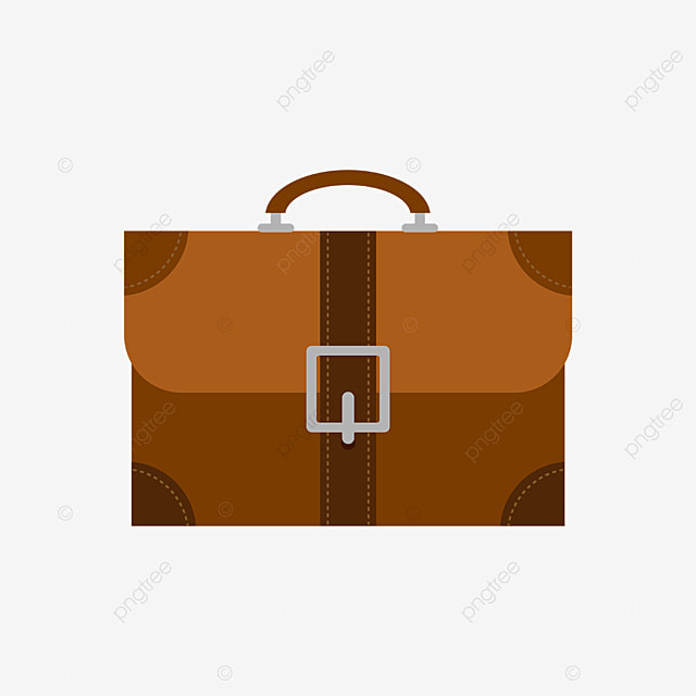 brown vintage briefcase clipart
