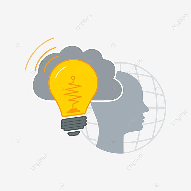 cloud bulb innovation clipart