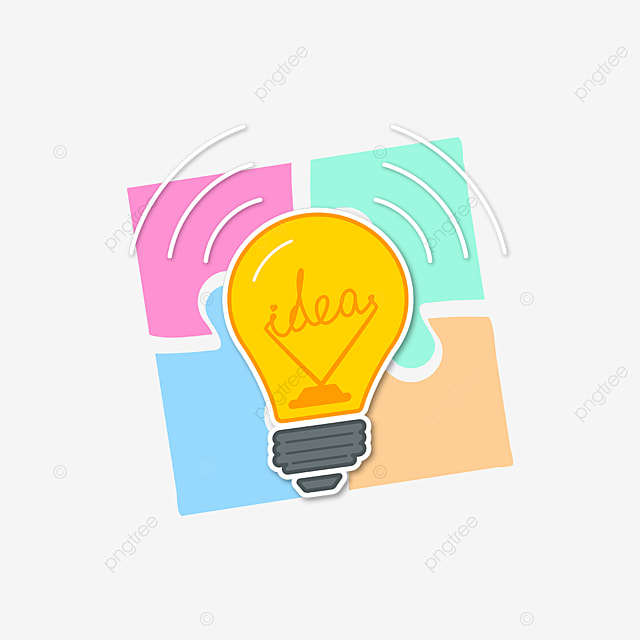 colorful puzzle innovation clipart