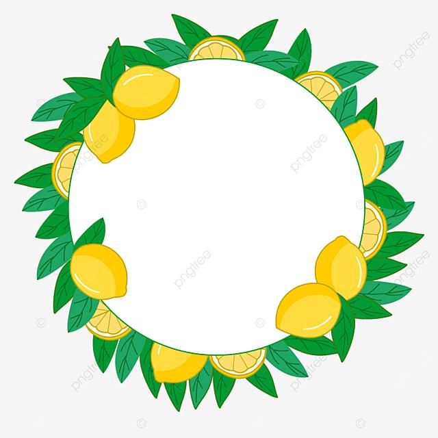 colorful round creative lemon border