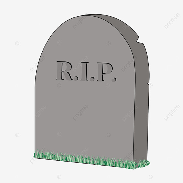 cracked tombstone with tender grass clip art