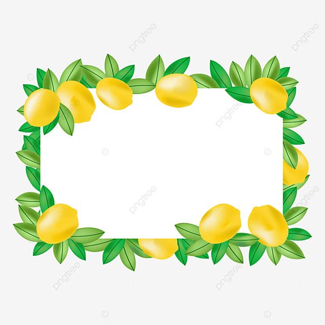 creative lemon border composed of large lemons