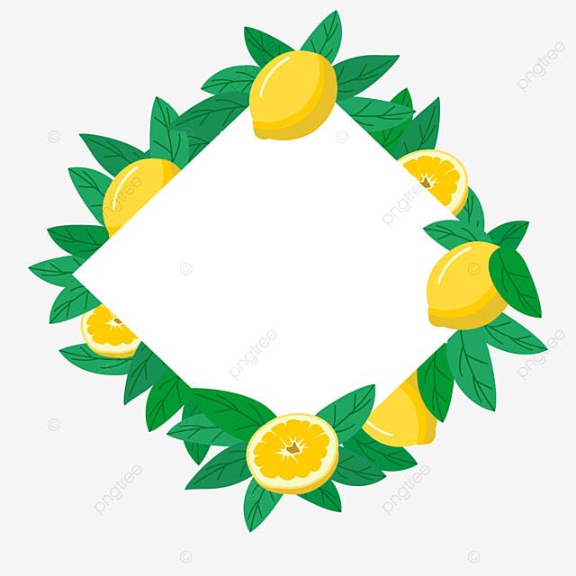 cute rhombus creative lemon border
