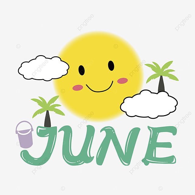 cute sun and clouds decoration june clipart svg