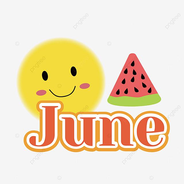 cute sun and watermelon decoration june clipart svg