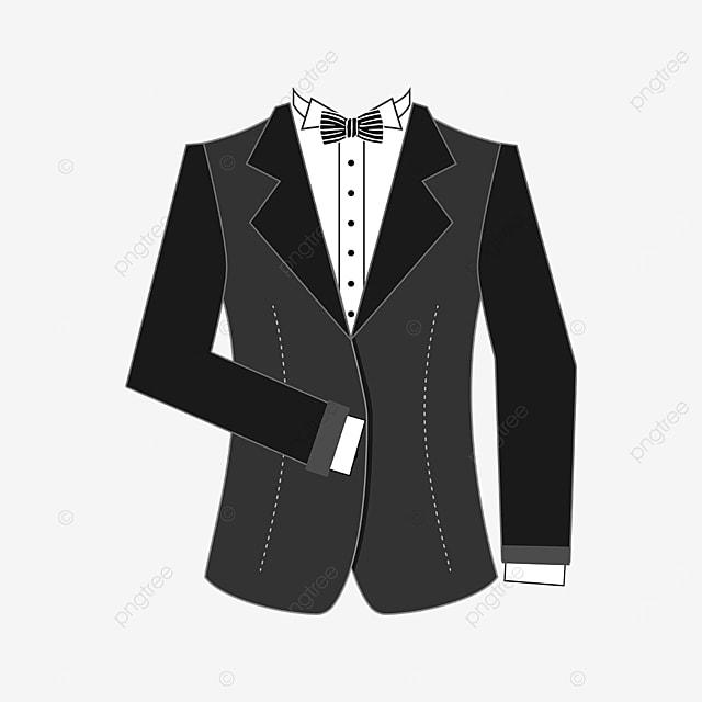 dark gray tuxedo clipart
