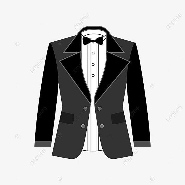 exquisite black tuxedo clipart
