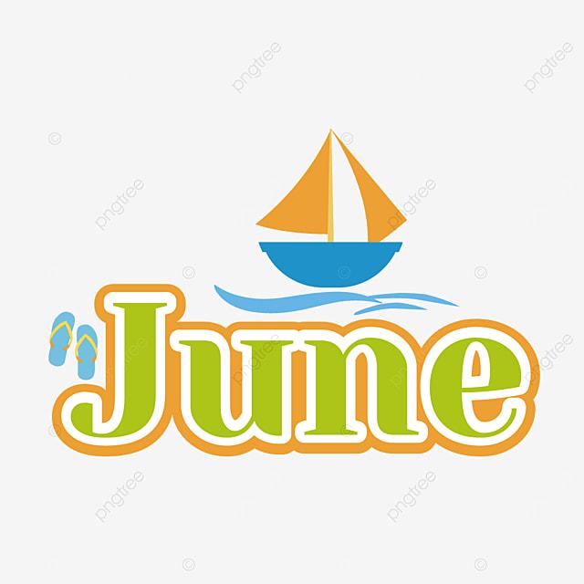 flip flops and sailboat decoration june clip art svg