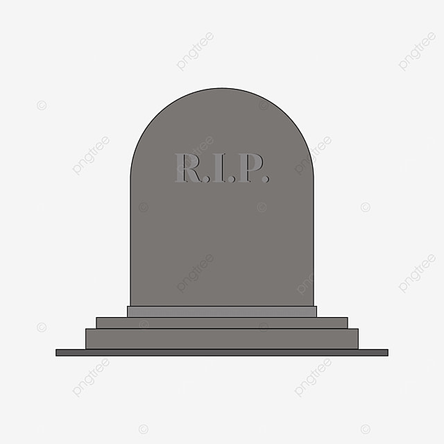 front tombstone with pedestal clip art