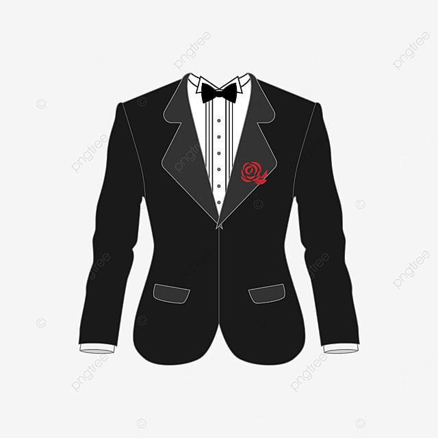 gentleman rose tuxedo clip art