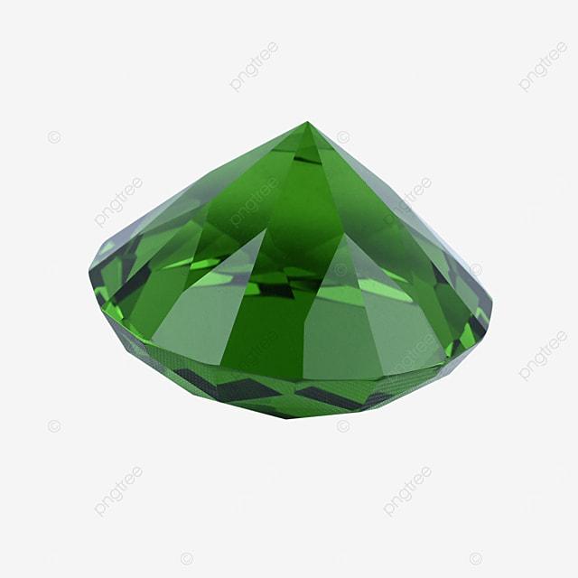 green crystal diamond accessory gift