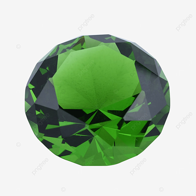 green crystal diamond jewelry gift