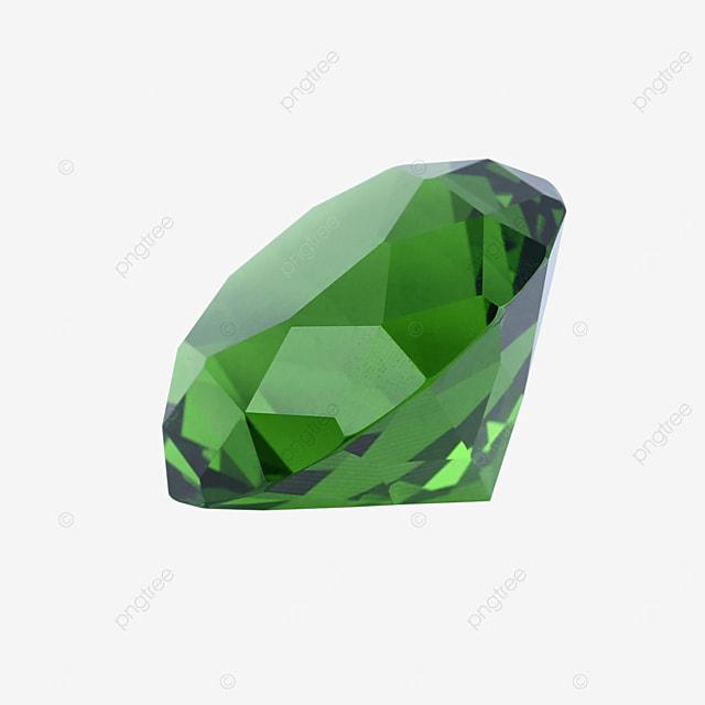 green crystal diamond ornament gift