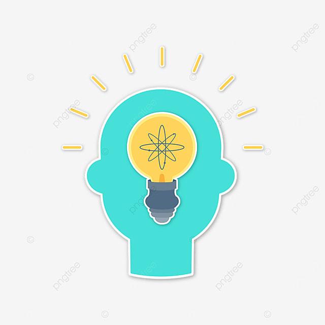 green human brain innovation clip art