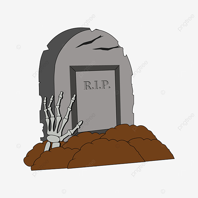 hand cracked tombstone clipart