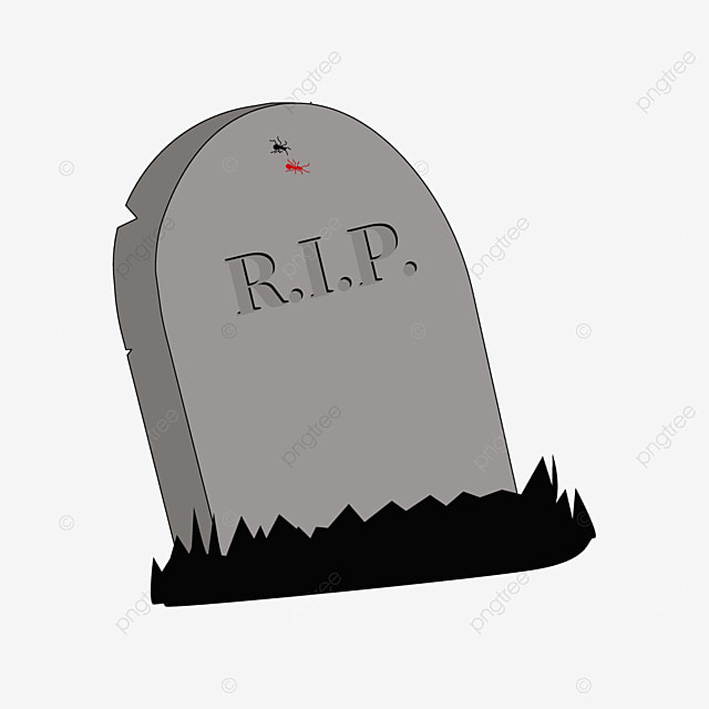 leaning tombstone with ants clip art