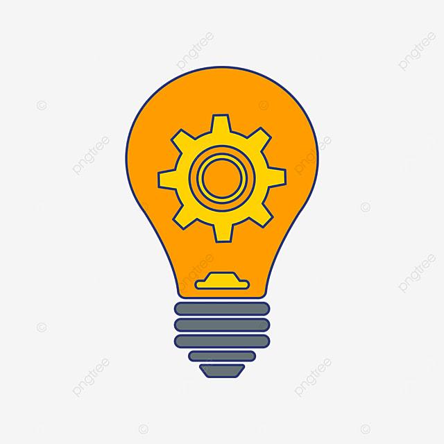 light bulb gear innovation clipart