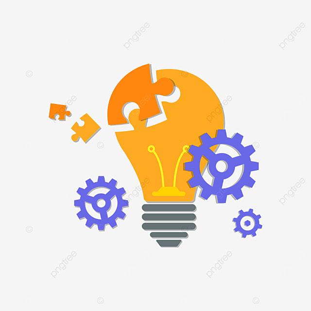 light bulb puzzle innovation clipart