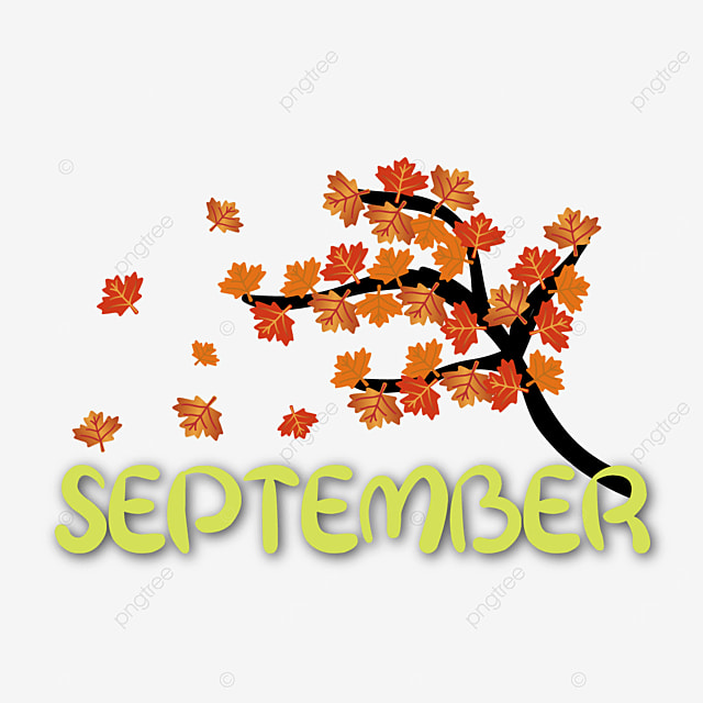 maple decoration september clipart svg