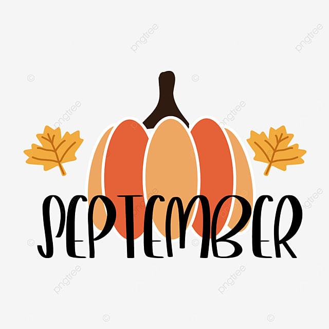 minimalistic orange pumpkin september clipart svg