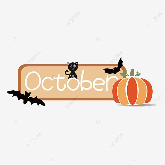 october creative pumpkin clip art svg