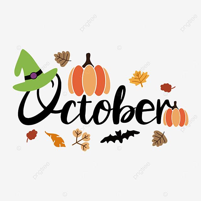 october pumpkin leaves clipart svg