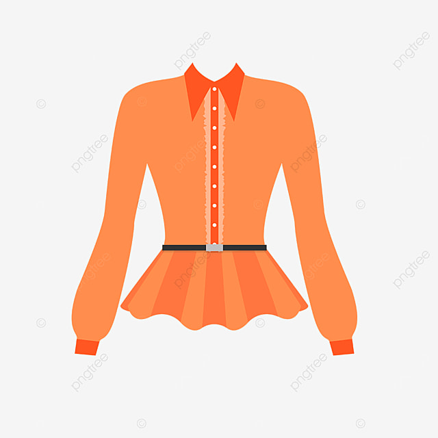 orange female shirt clip art