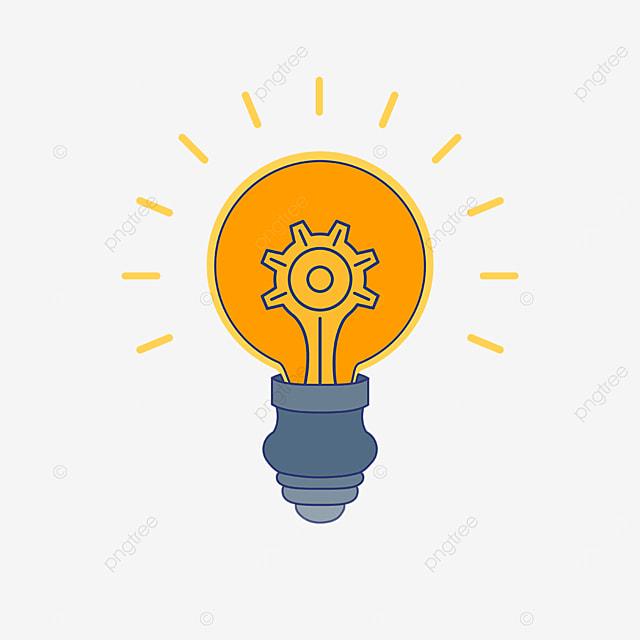 orange light bulb innovation clipart