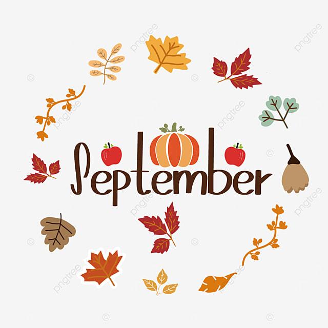 plant border pumpkin and apple decoration september clipart svg