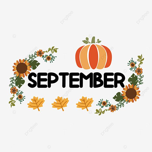 pumpkin and flowers decoration september clipart svg