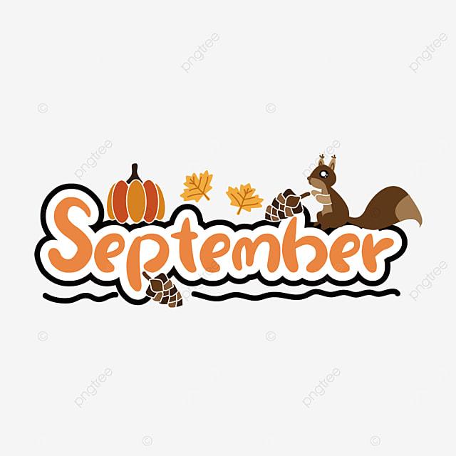 pumpkin and squirrel decoration september clipart svg