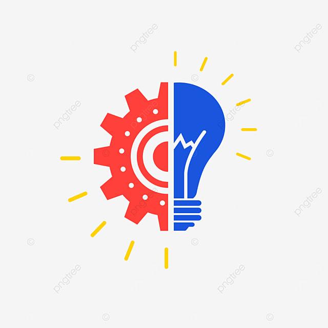red blue innovation clip art