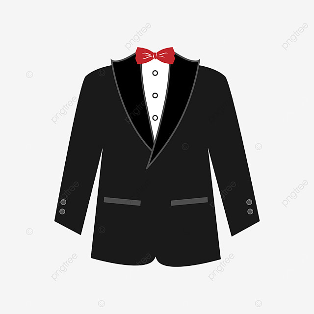 red bow tie tuxedo clipart