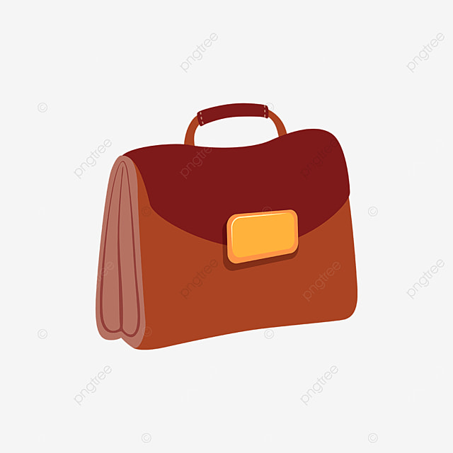 red brown briefcase clipart