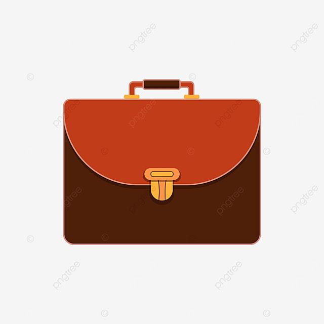 red brown golden briefcase clipart