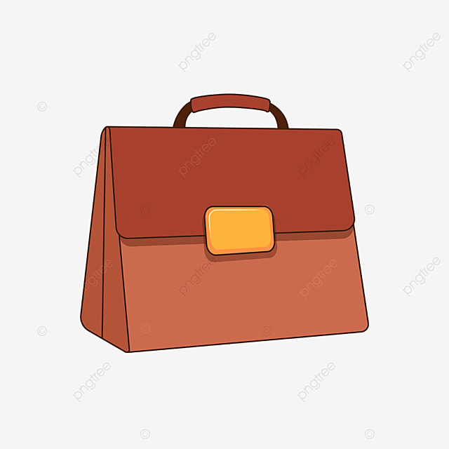 red brown tough briefcase clipart