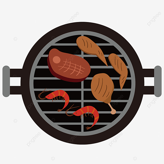 round grill barbecue grill clipart