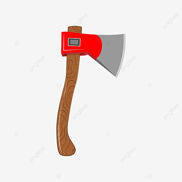 sharp red axe clipart