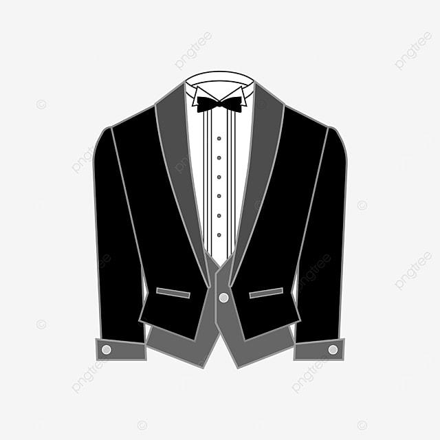 short waistcoat tuxedo clipart