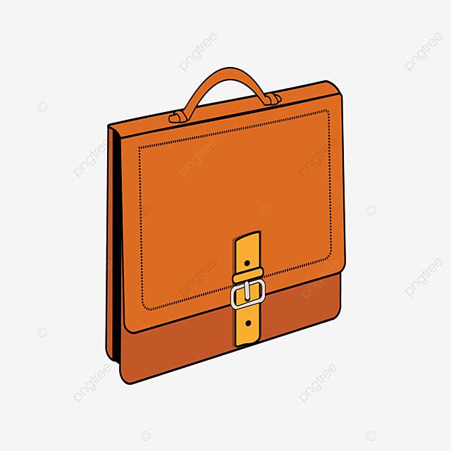 side brown briefcase clip art