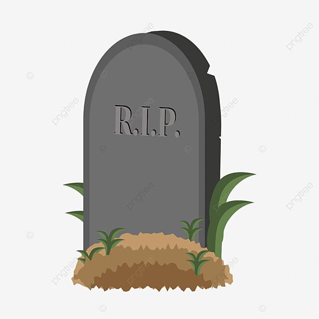 side long grass tombstone clip art