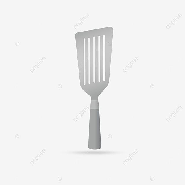 silver metal spatula clipart